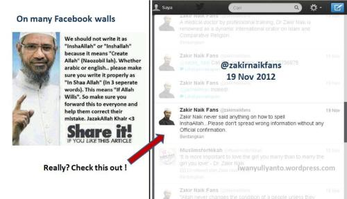 Zakir Naik Clarification